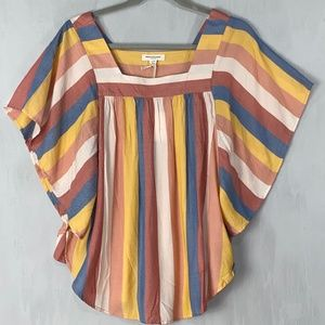 Beachlunchlounge Zoey Flutter Sleeve Top